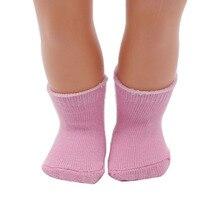 1 пара 18-дюймовая кукла носки подходит для девочек куклы и более, розовый цвет носок кукла