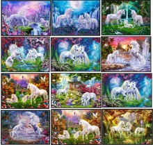 Embroidery Counted Cross Stitch Kits Needlework   Crafts 14 ct DMC Color DIY Arts Handmade Decor   Unicorns