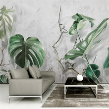 Green plant forest 3d stereo TV background wall professional production mural custom photo