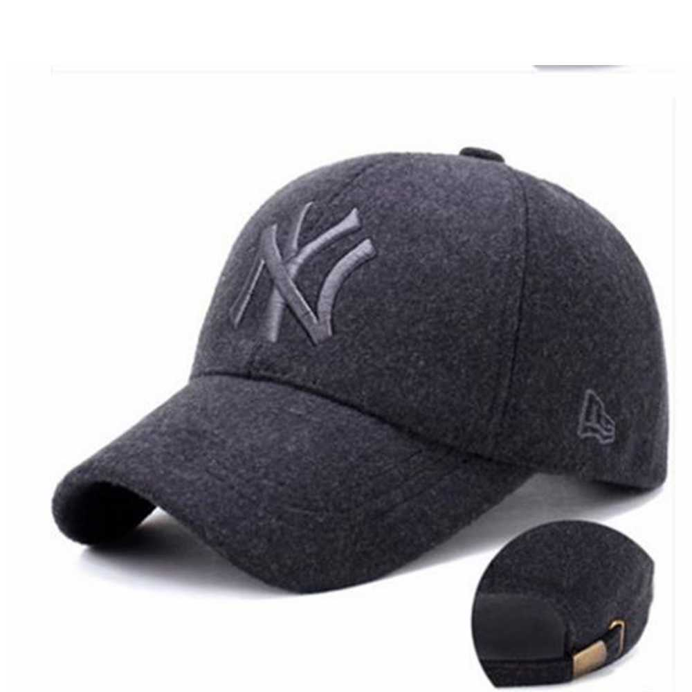 478ddefa1a1 ... Coslive 8MAY MLB NY Basketball Wool Hat Letter Embroidered Hat Korean  Type School Cap Hip Hop ...