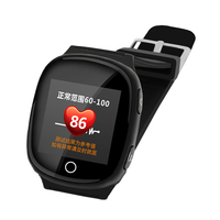 D100 Smart Watch GPS+LBS+WIFI Positioning Anti lost Heart Rate Sports Tracker Fall Alarm SOS Wristwatch for Old People Elder