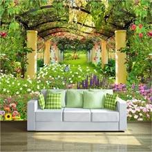 Garden shelf 3D TV background wall professional production wallpaper mural custom photo whole house