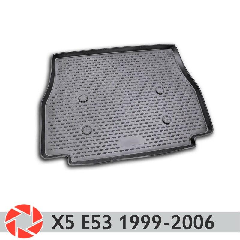 Pour BMW X5 E53 1999-2006 tapis de coffre tapis de sol antidérapant polyuréthane protection contre la saleté intérieur coffre style de voiture