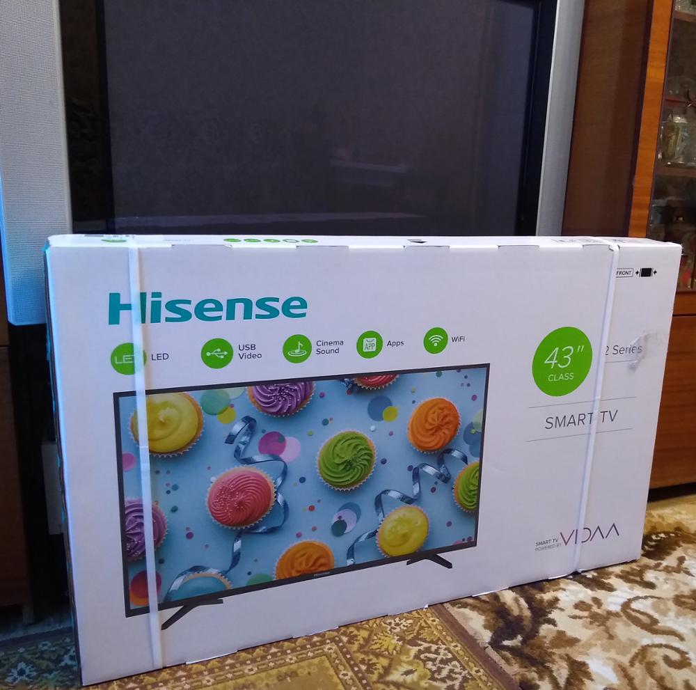 """Телевизор 43 """"Hisense  FullHD Smart tv"""