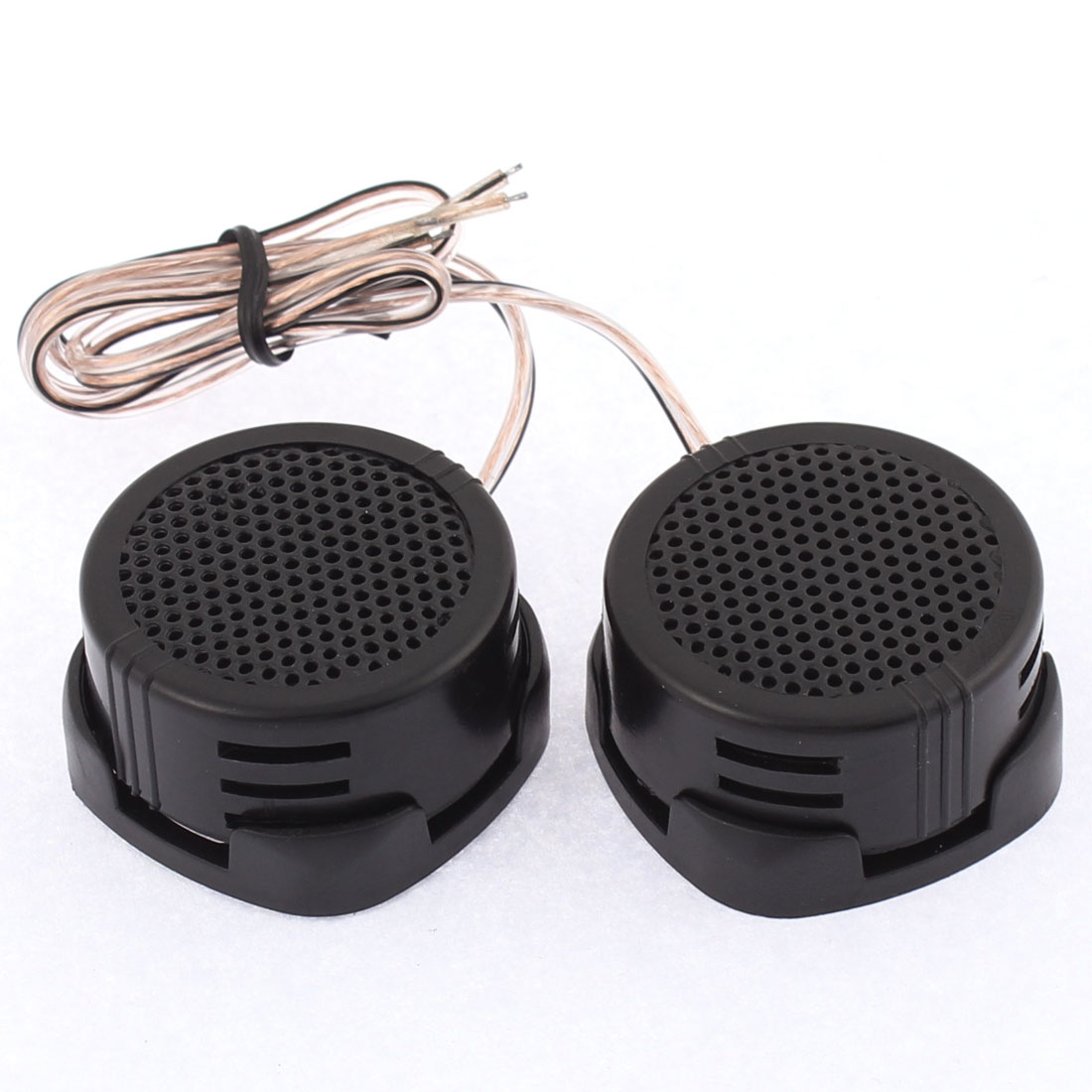 UXCELL Car Audio Speaker System High Efficiency 500W Dome Tweeter Black 2 Pcs