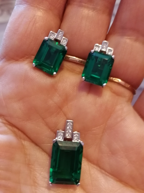 Green Emerald 7.6ct Earrings photo review