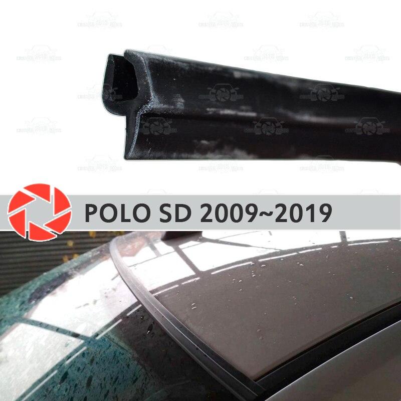 Brisa defletores para Volkswagen Polo Sedan 2009-2019 windshield vedação proteção aerodinâmica chuva cobertura estilo do carro pad