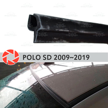 Дефлекторы для ветрового стекла для Volkswagen Polo СЕДАН 2009-2019 Уплотнители для ветрового стекла защита aerodynamic дождь Автомобиль Стайлинг Обложка pad