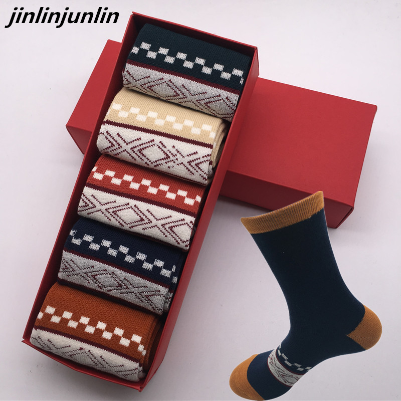 Fashion Men's cotton stockings thickened men's   socks   men's   socks   high quality men's gift box without a gift