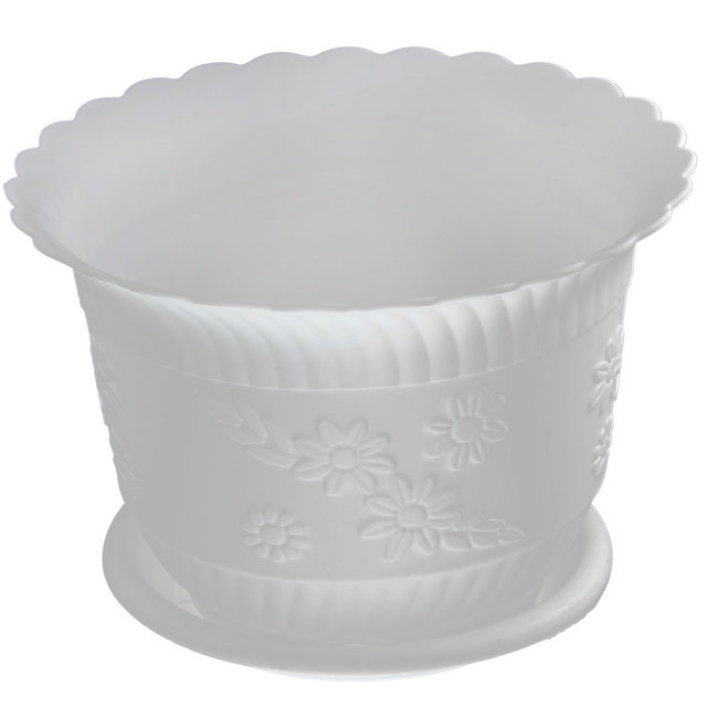 Plastic Bloempot Wit.Uxcell Home Office Tuin Plastic Bloemmotief Plant Bloempot Wit W