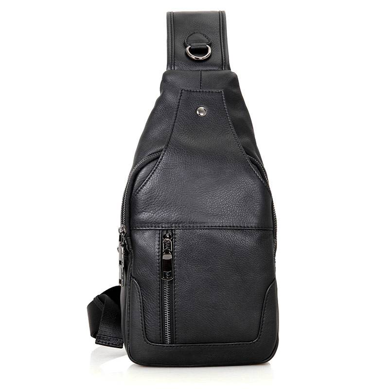 Chest Bag Men Sling Bag Casual Cow Leather Chest Anti Theft Crossbody Bags High Quality Business Shoulder Chest Packs bags in Waist Packs from Luggage Bags
