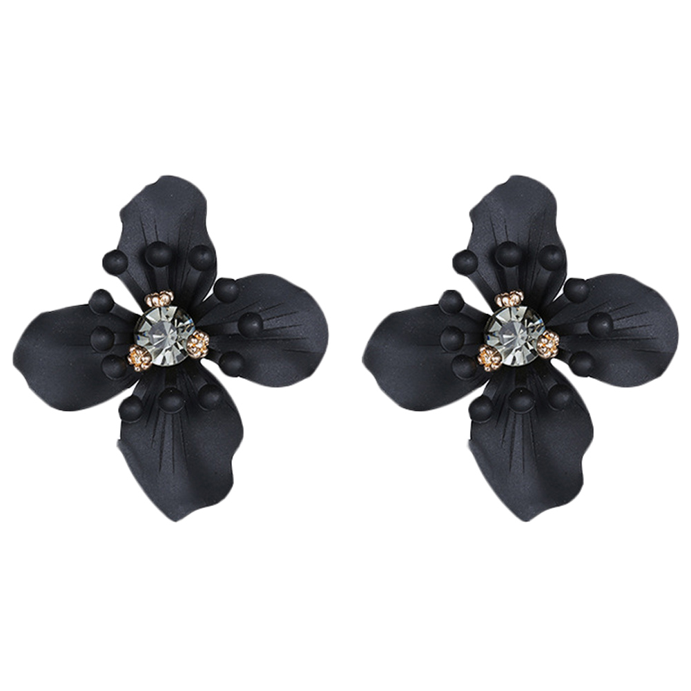 Vintage Crystal Flower Earring Stud s
