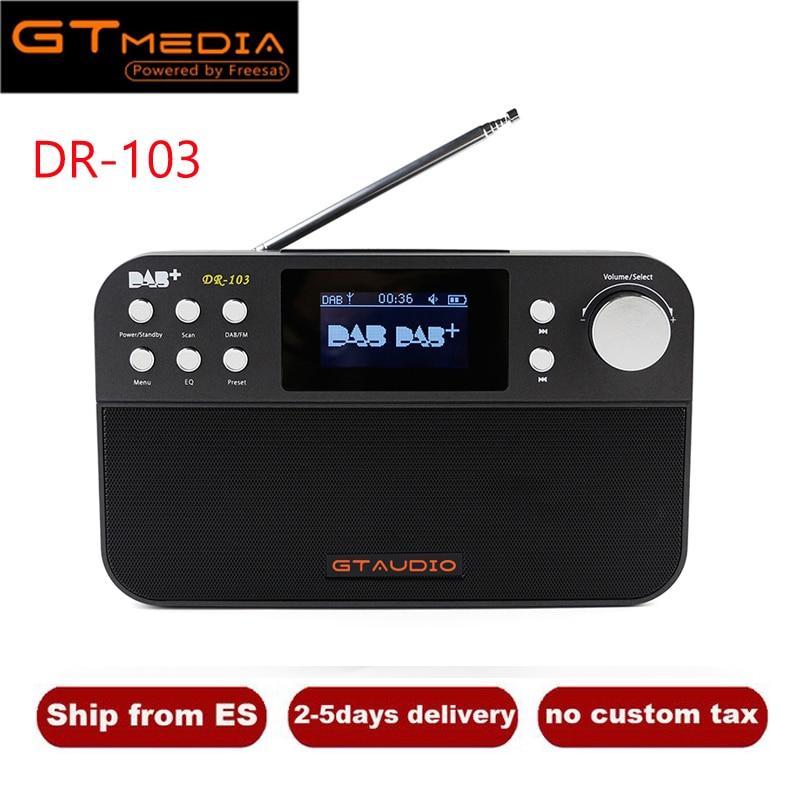 Gtmedia Dr-103b Dab Empfänger Tragbare Digitale Dab Fm Stereo Radio Rezeptor Mit 2,4 Zoll Tft Farbe Display Wecker Bluetooth Unterhaltungselektronik