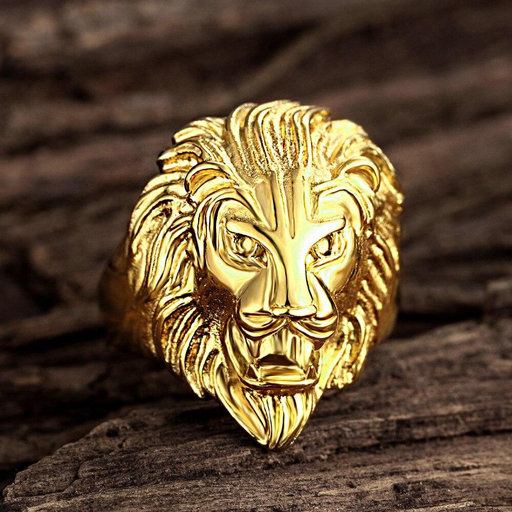 Bague Lion argenté ou doré pas cher | Rasta Lion