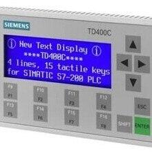 Текстовый дисплей TD400C 6AV6 640-0AA00-0AX0 панель дисплей экран HMI с RS232/RS485/RS422 для Siemens S7-200 PLC или б/у