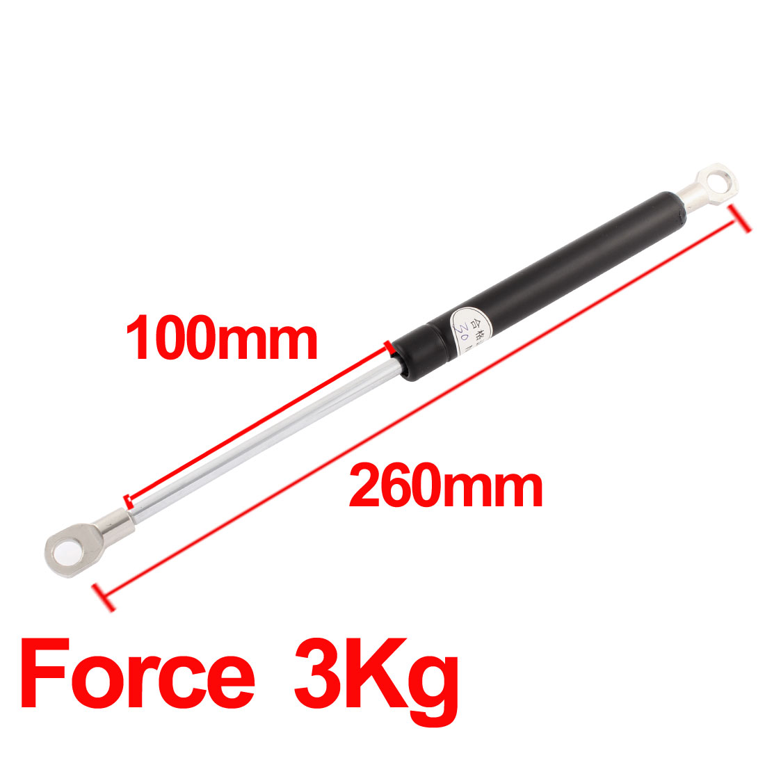 UXCELL 8Mm Hole Dia 3Kg 6.6 Lbs Force Auto Car Lift Gas Spring Prop Support Rod