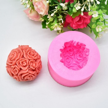 New Rose Ball Shaped Silicone Mold Cake Decoration Fondant Cake 3D Mold Food Grade Silicone Mould rose