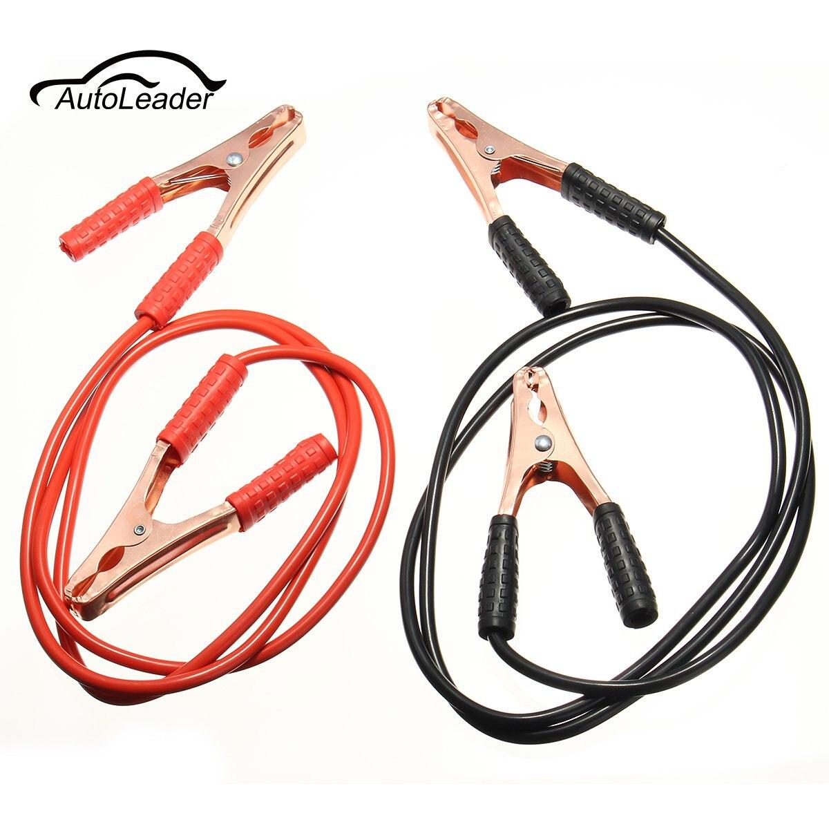 Une Paire Noir Rouge 2 M 500AMP Auto Batterie Ligne D'urgence câble Fil De Cuivre Ligne Câble Clip Puissance De Charge Jump Start conduit