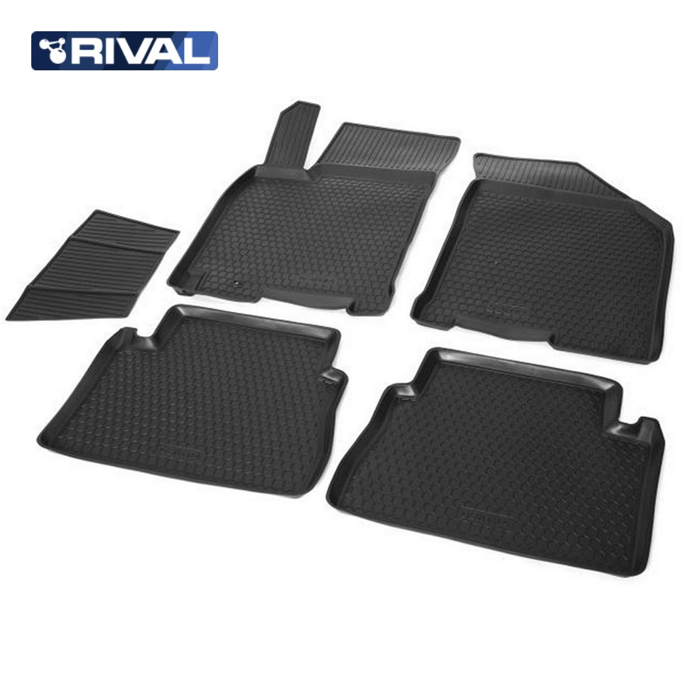 For Chevrolet Lacetti floor mats into saloon 5 pcs/set Rival 11301001 mats in salon сртк chevrolet lacetti 04 rubber ch lac 04 g 02033