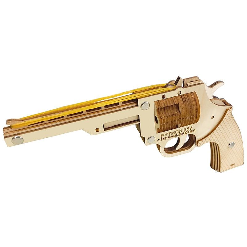 Revolver gun Rubber band gun 3D diy diorama a children toys revolver pistola arma de fogo maquette militaire spielzeug