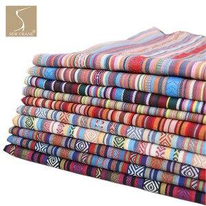 150 см широкая хлопковая смесь, богемная Радужная полосатая обивка, абстрактная Геометрическая Этническая декоративная ткань, марокканская ...