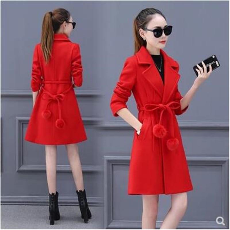 Imitation Taille Bn3899 De Laine Dames hiver Pluse Automne Et Élégant Vestes Femmes 2018 White red Off Manteaux Cachemire Long PRwdqS