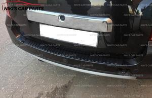 Image 5 - Protective plate of rear bumper for Renault / Dacia Duster 2010 2017 plastic ABS protection guard cover pad scuff sill styling