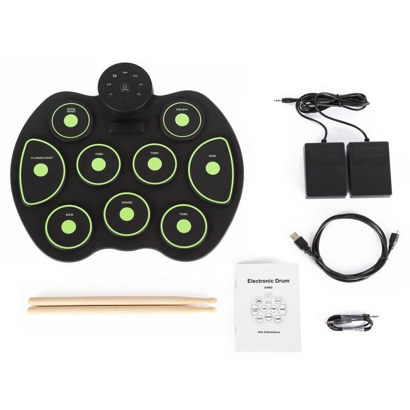 Eva2king Silicone Drôle Électronique Portable Tambours Numériques Pratique D'instruments de musique Avec Pilons Musique Jouets Pour Enfants - 4