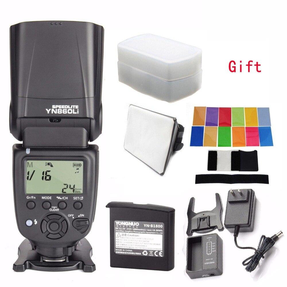 Yongnuo YN860Li Flash Speedlite As Yn560iv Updated Version YN860Li Flash For Canon Nikon Olympus Lumix Pentax All DSLR Camera