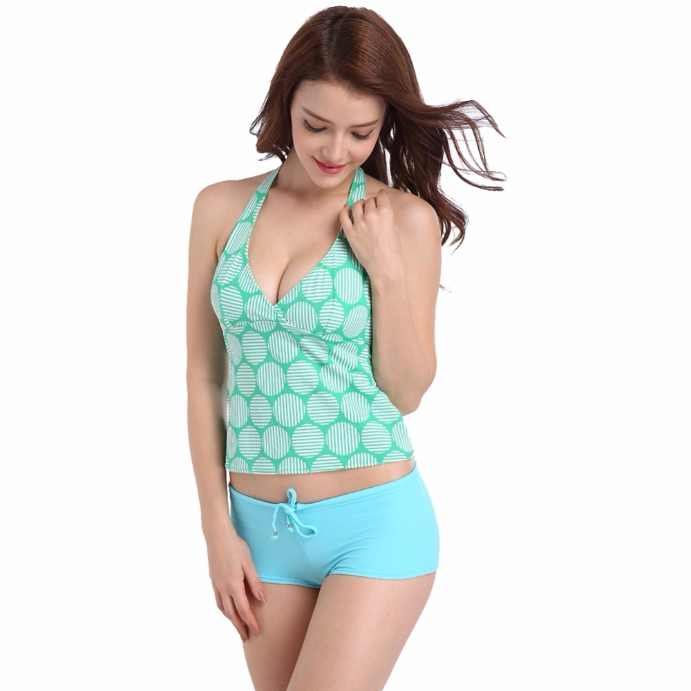 SWIMMARTswimwear women spa split two piece boxer swimsuit high grade nylon swimming suit swimming suit for women swim suit bikin in Body Suits from Sports Entertainment