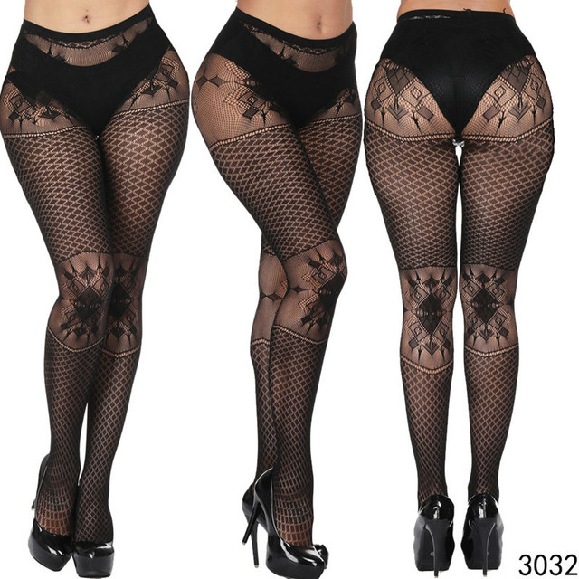 DOIAESKV Plus Size Tights Women Sexy Erotic Lingerie Pantyhose Sex Body Stockings Large Size Tights Sexy Women Fishnet Pantyhose 1