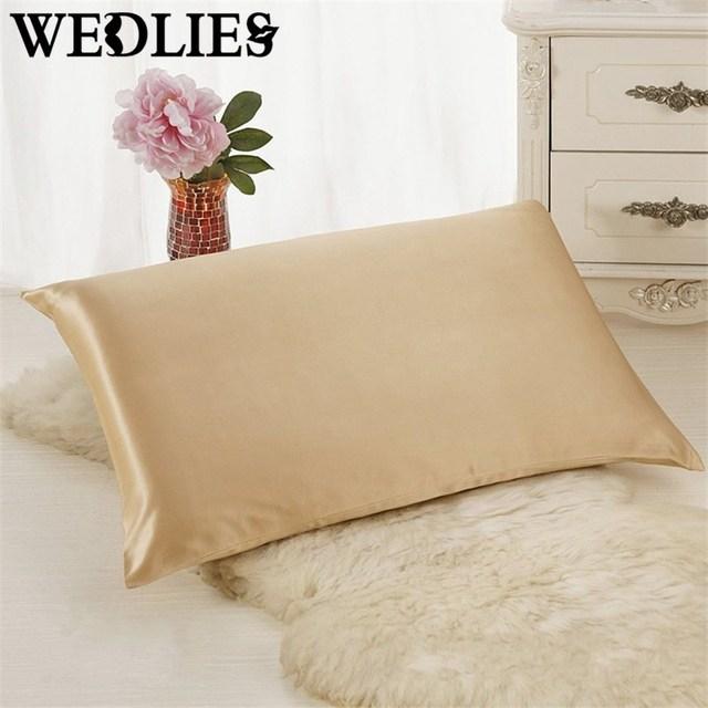 Pillowcase Silk Terse Pure Soft Sleeping Envelope Closure Zipper