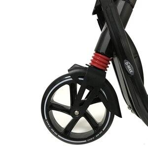 Image 4 - 大人 kick 子供スクーター折りたたみ pu 2 ホイールアウトドアスポーツすべてアルミ都市キャンパス輸送