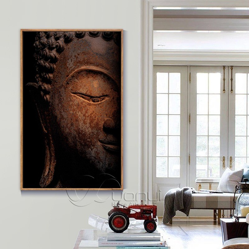 1 Pcs Abstract Buddha Face Canvas Oil Painting Wall Picture For Living Room Cuadros Buddha Decoration Modern Printing Unframed