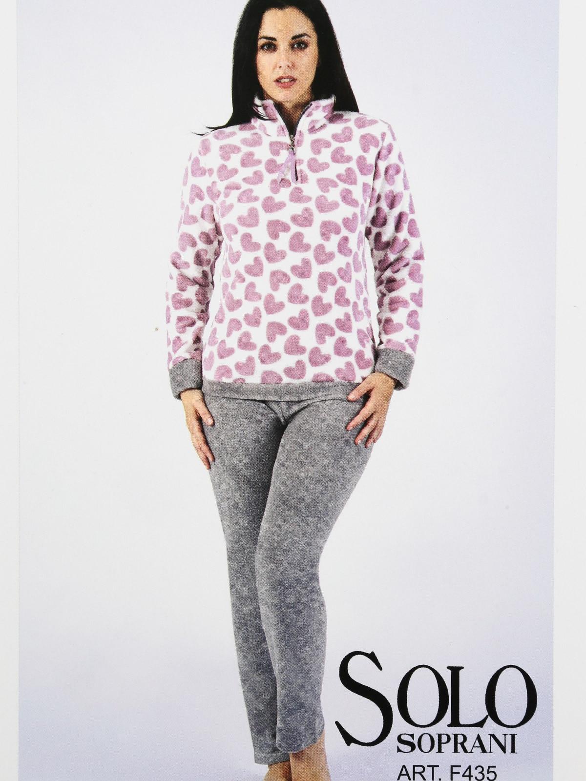 Pajamas Warm Fleece Printed Hearts