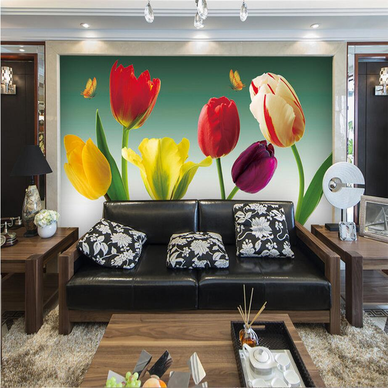 Custom Photo 3D Wallpapers for Walls 3D Flowers Romantic Wall Covering Living Room Home Decor Flowers Desktop Wall Papers Murals custom wallpaper for walls 3 d photo wall mural pastoral country road tv walls 3d nature wallpapers for living room