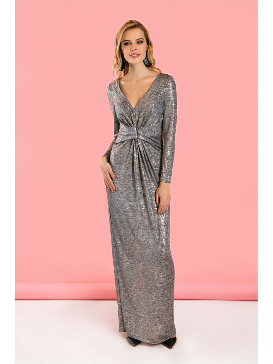 Фото - Dress to the floor. Color gray cut out back floor length tank dress