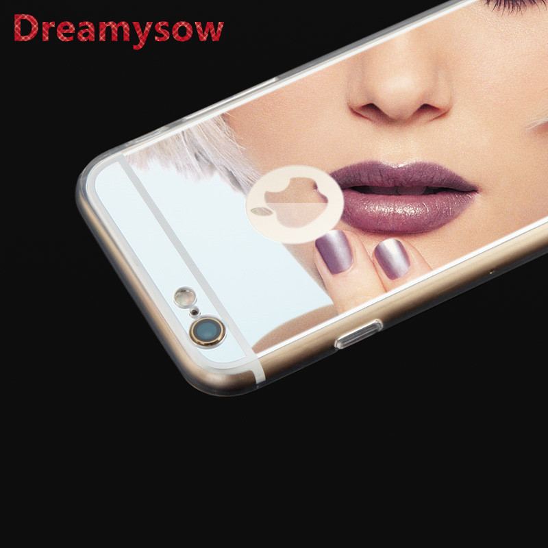 TPU Mirror Case For iphone X 7 Plus 6 6S Plus Luxury Fashion Soft Back Cover For iPhone SE 5S 5 4S 4 New Shell Back cover case