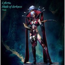 1:24 75mm Resin Figure Model Kit  Lyhsria, Shade of darkness(NO BASE) Unassambled  Unpainted