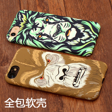 Фотография For iphone 6 6plus 6s plus 7 7plus 8 luxury TPU phone case All-inclusive Luminous King of the forest tiger King Kong cover coque