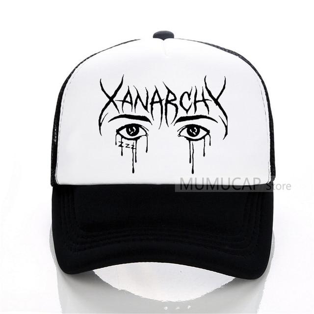 Lil xan Xanarchy bonés de Beisebol Masculino ocasional ao ar livre Verão  Homens malha chapéu Homens f0a4ae906d7