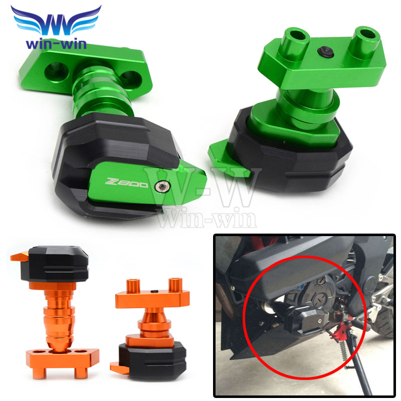 For kawasaki z800 2013 2014 2015 motorcycle Frame Sliders Crash Protector Falling Protection motorcycle accessories z 800 motorcycle cnc aluminum frame sliders crash pads protector suitable for kawasaki z800 2012 2013 2014 2015 2016 green