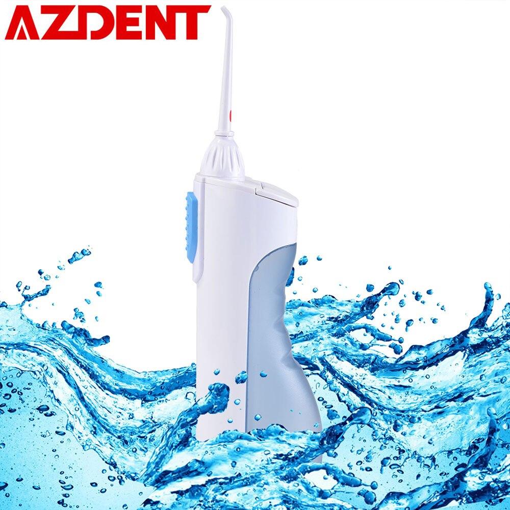 AZDENT irrigador Oral de agua portátil de hilo Dental de limpieza de chorro de agua diente boquilla boca limpiador de dentaduras cepillo de dientes herramientas