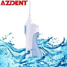 AZDENT irrigador Oral portátil, limpiador Dental por chorro de agua, boquilla, limpiador de dentaduras, cepillo Dental, herramientas