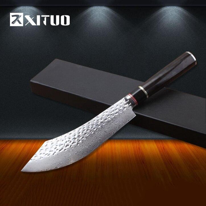 Xituo pro шеф-повар ножи японский VG10 дамасской стали нож шеф-повара лучшее качество santoku кухонный нож инструмент сбора ручной работы Новый