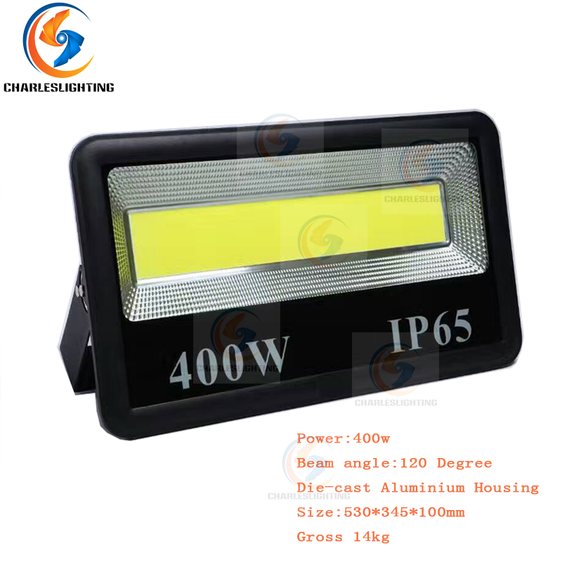 CHARLES LIGHTING 3 Years Warranty Outdoor LED Flood Lights 110-240V LED FloodLight 200W/300W/400W LED Square Water Proof Lights