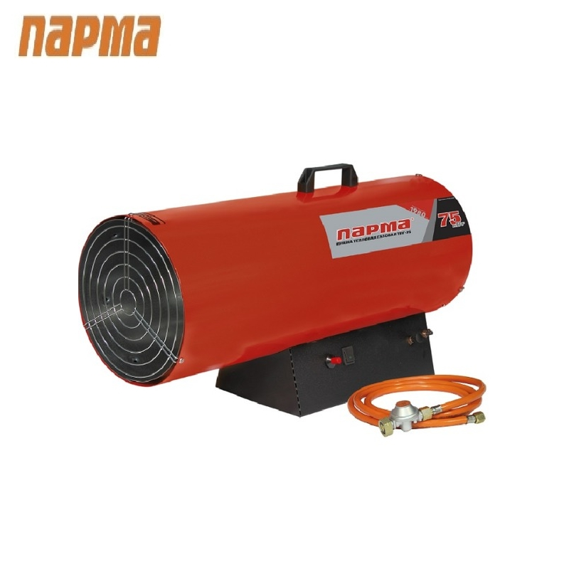 Heat gas gun Parma TPG-75 (70 kw, 2300 m3/h) Russia Hotplate Facility heater Area heater Space heater
