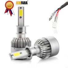 H4 LED H7 H11 H8 HB4 H1 H3 HB3 Auto S2 Car Headlight Bulbs 72W 8000LM Car Styling 6500K 4300K 8000K led automotivo FOR LADA NIVA(China)
