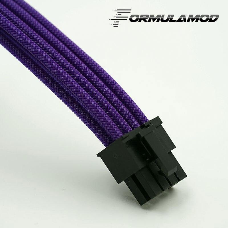 FormulaMod Fm-PCI8P-A, PCI-E 8Pin GPU удлинитель питания, материнская плата 18AWG 8Pin многоцветные соответствующие кабели расширения - Цвет лезвия: Purple