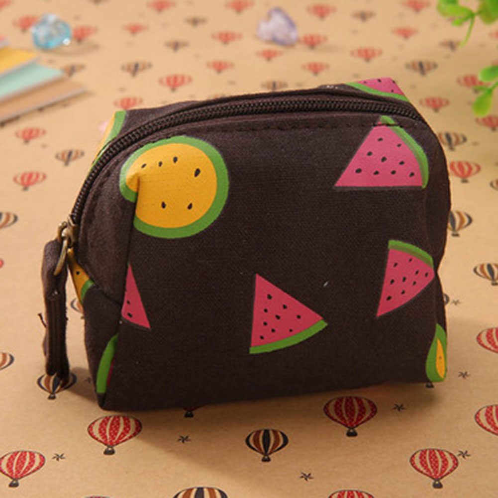 Colorful Coin Purse Watermelon Fruit Printed Coin Purse Girls Mini Headset Bag Candy Or Girl